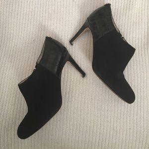MICHAEL Michael Kors Shoes - Michael Kors Black Sammy suede and croc booties